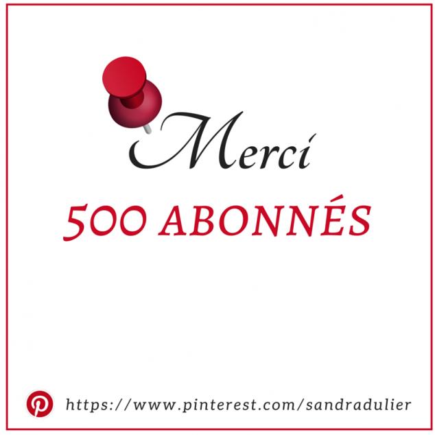 500 abonnes pinterest