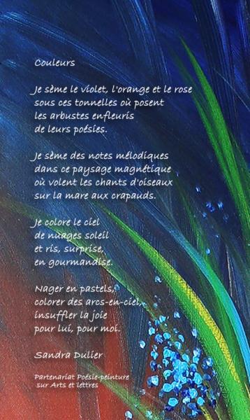Poème Couleurs sur Germinal de Liliane Magotte