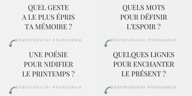 Les 4 themes #sampoésie pour la journée mondiale de la poésie