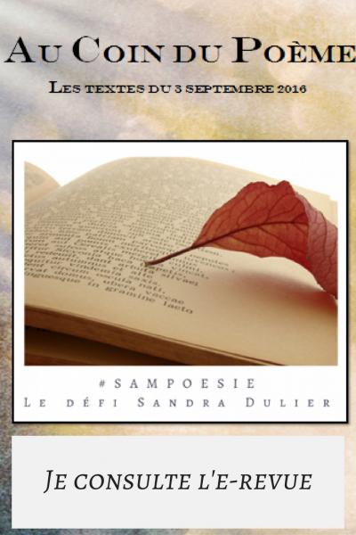 Lire la revue au coin du poeme defi poesie du 03 09 2016
