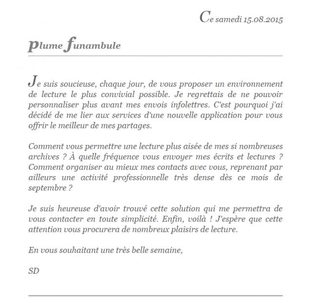Newsletter 15 08 2015 lettre
