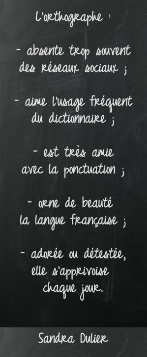 Orthographe #citation