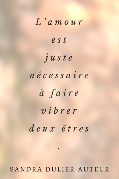 L'amour est juste nécessaire