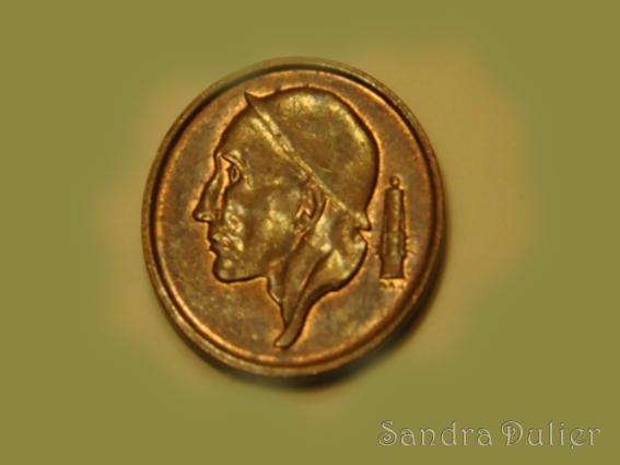 Ancienne pièce de 50 centimes, franc belge, le mineur.