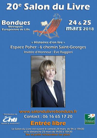 Affiche salon du livre de Bondues 2018