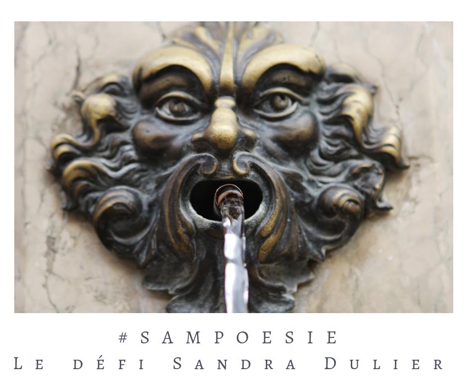 Que vous inspire cette photo ? eau, fontaine, masque, Venise, métal