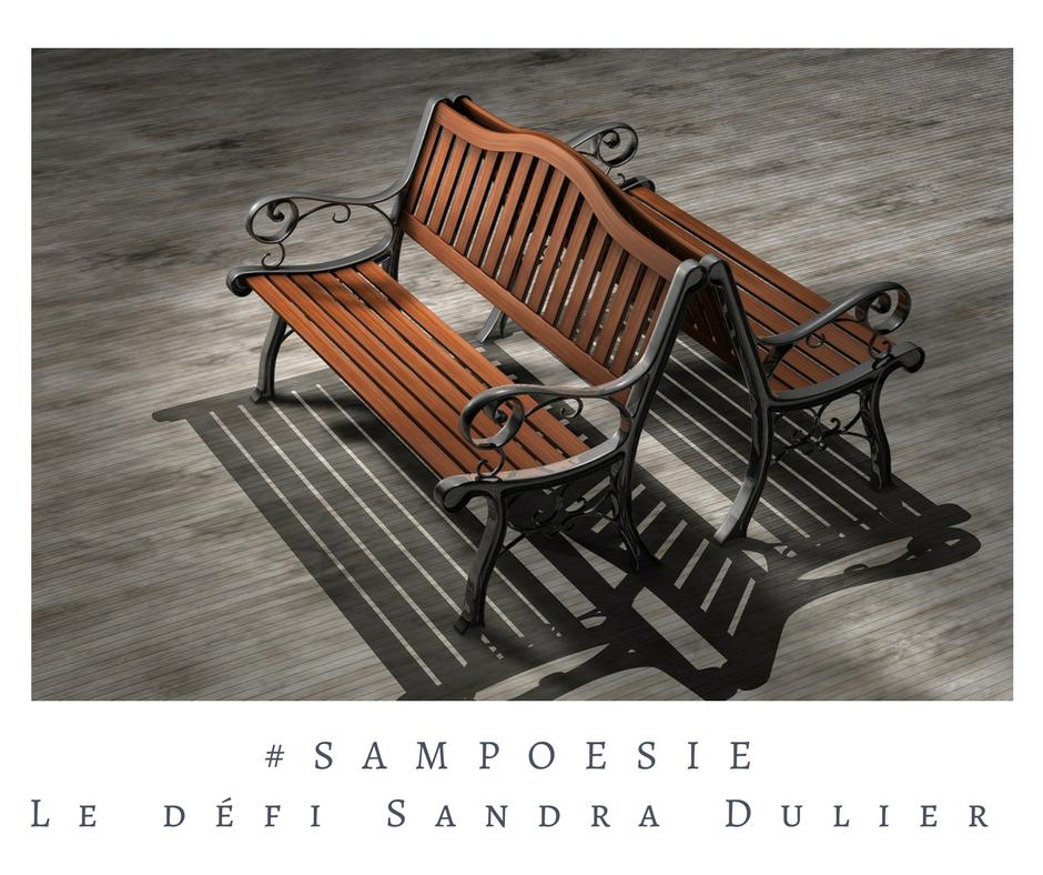 Un défi littéraire… écrire un poème #Sampoésie. Banc, bois.