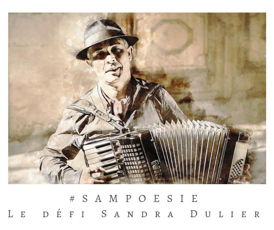 Que vous inspire cette photo ? poésie, accordéon, Paris, sépia