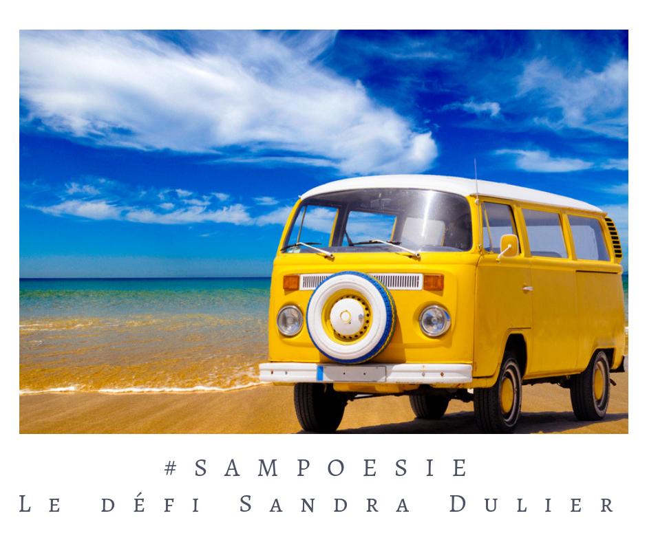 Que vous inspire cette photo ? poésie, été, camionnette, Combi Volkswagen, vintage, hippie