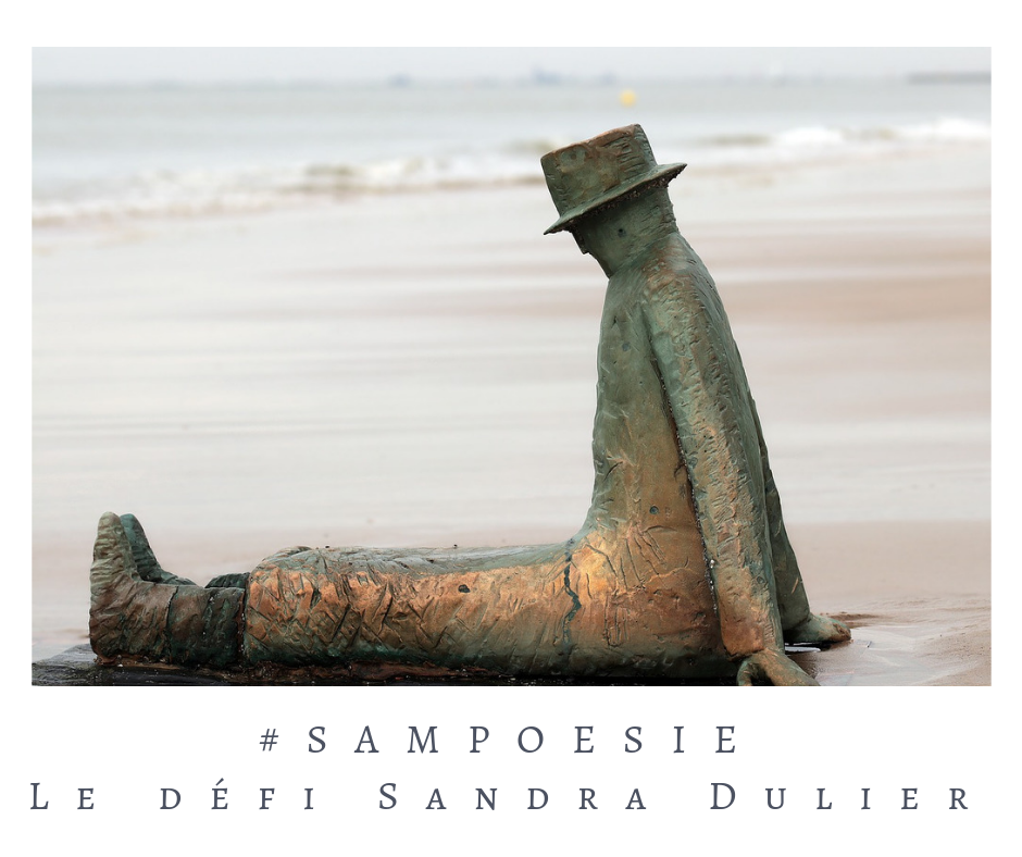Que vous inspire cette photo ? poésie, photo, sculpture, mer, Belgique
