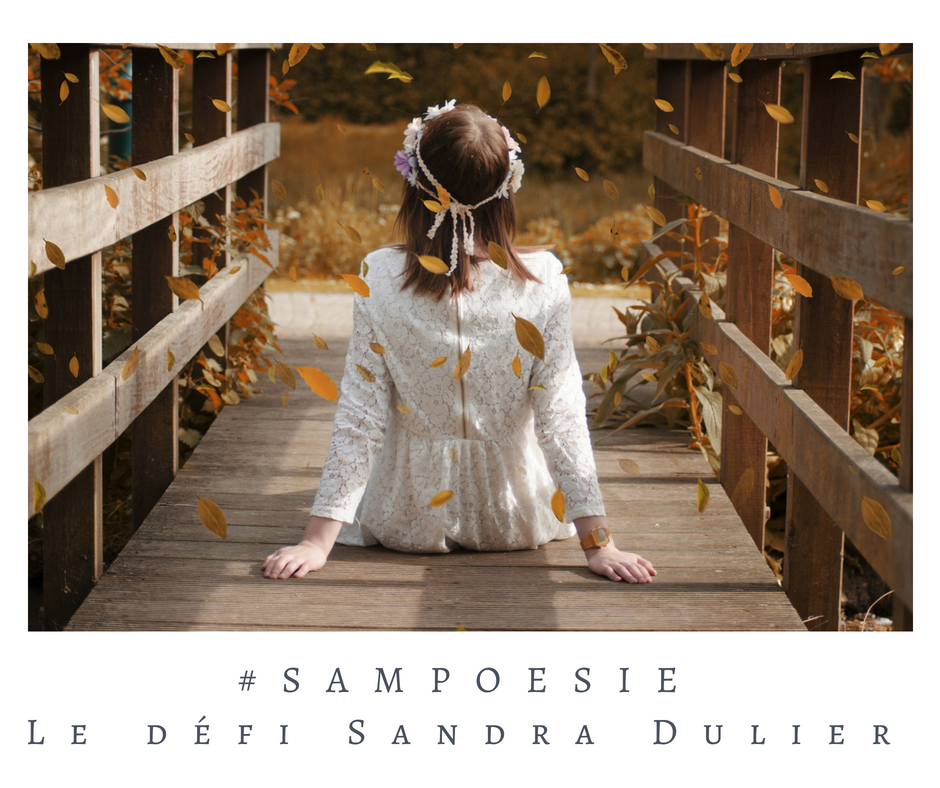 Que vous inspire cette photo ? A vos poèmes #Sampoésie. #automne #fille #blanc #dentelle #pont #poésie