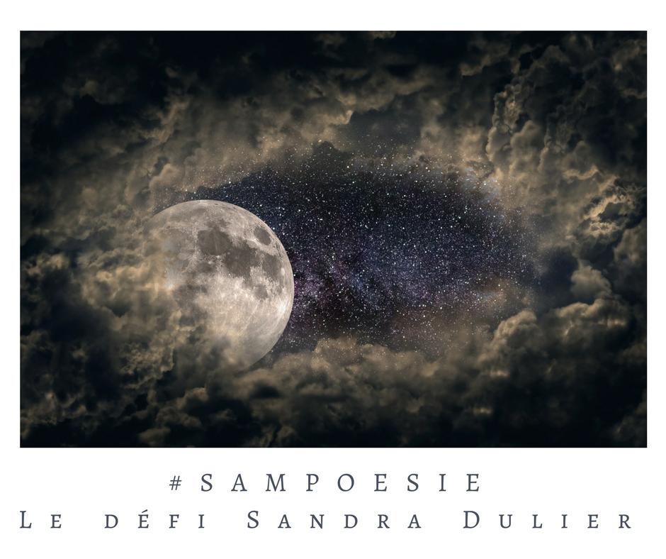 Que vous inspire cette photo ? A vos poèmes #Sampoésie. #lune #ciel #nuages #nuit #étoiles #écrire #poésie.