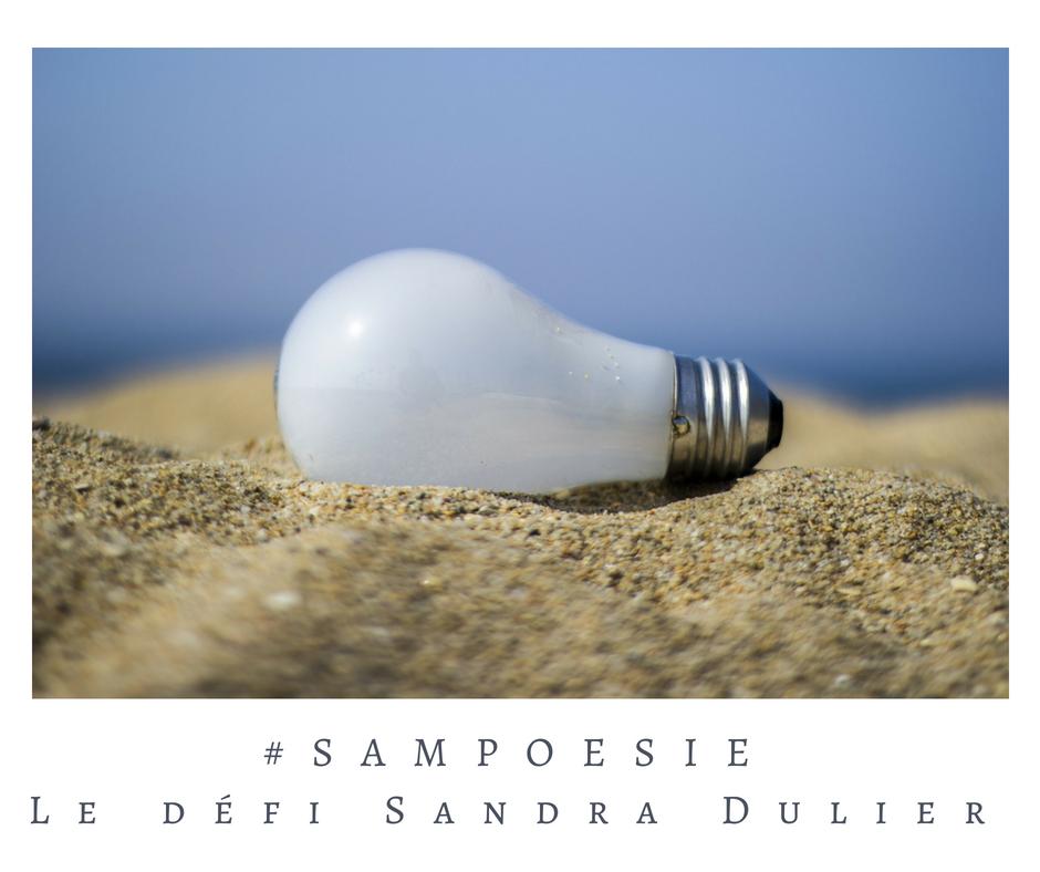Que vous inspire cette photo ? A vos poèmes #Sampoésie. #ampoule #été #sable #mer #écrire #poésie