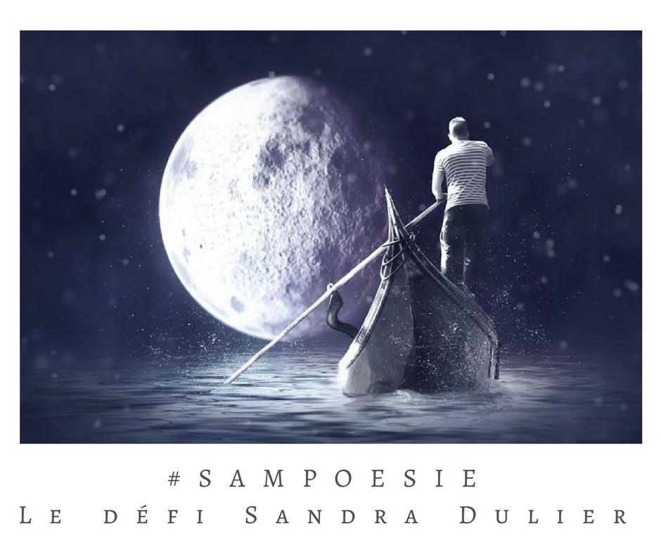 Un défi littéraire… écrire un poème #Sampoésie. Lune, gondole, nuit, barque.