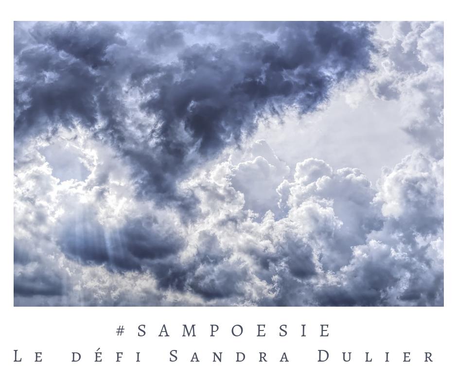Que vous inspire cette photo ? poésie, nuages, orage, ciel, bleu, gris