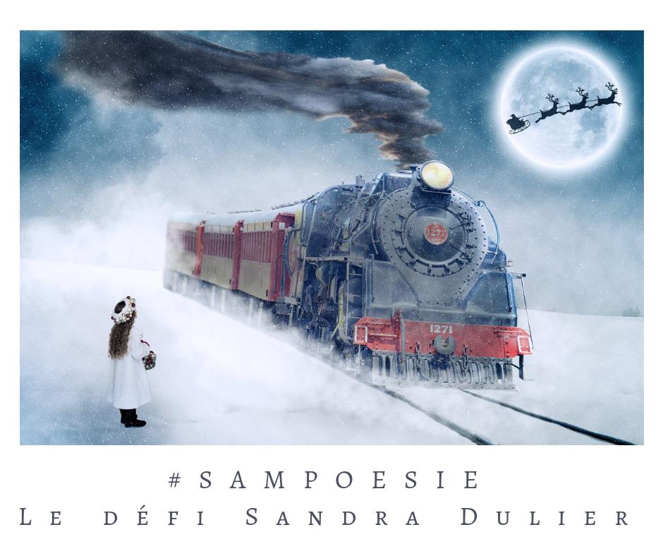 Que vous inspire cette photo ? A vos poèmes #Sampoésie. #train #locomotive #noël #neige #hiver # #décembre #écrire