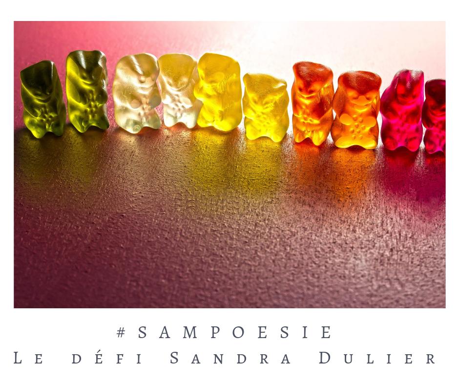 Que vous inspire cette photo ? bonbons, oursons, gélatine, couleurs, gourmandise, poésie