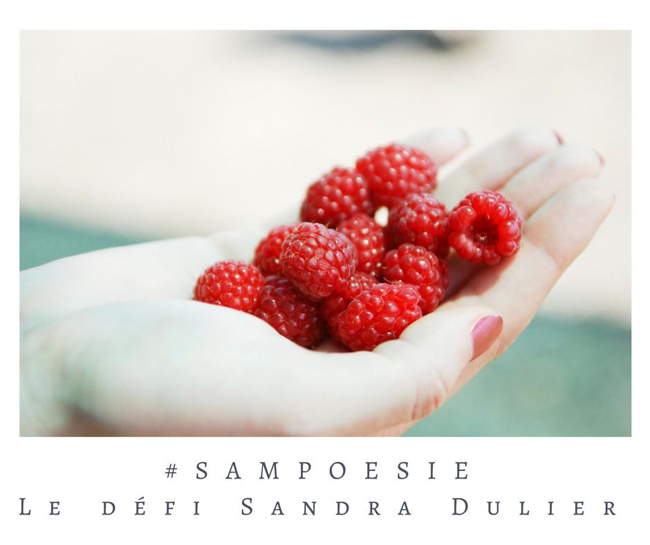 Que vous inspire cette photo ? A vos poèmes #Sampoésie. Framboise, main, juin, poésie.