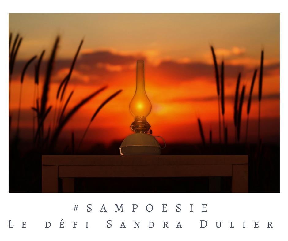 Que vous inspire cette photo ? A vos poèmes #Sampoésie. #lampe #soir #été #paysage #crépuscule #poésie