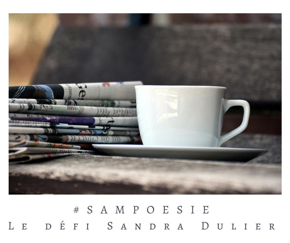 Que vous inspire cette photo ? A vos poèmes #Sampoésie. #journal #tasse #café #matin #poésie
