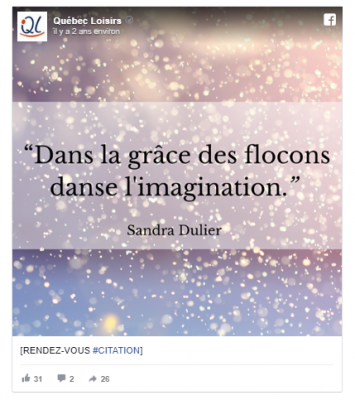 Quebec loisirs citation sandra dulier 1