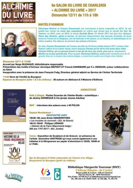 Salon du livre de charleroi 2017