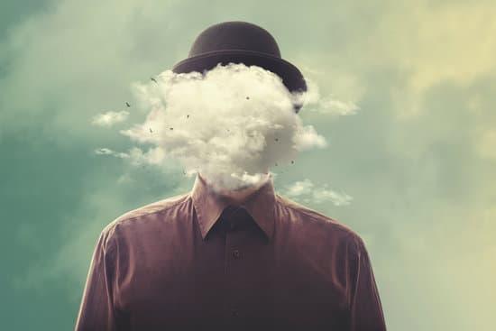 Surrealisme, homme, nuage, anonyme
