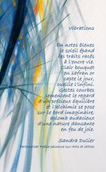 Poème Vibrations de Sandra Dulier sur Luminescence de Liliane Magotte